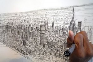NYC Hand Drawing